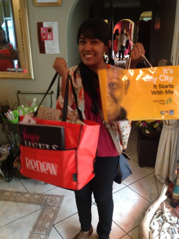 The lovely Fathima from Happiness Is with her haul