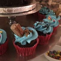 Chocolate Cupcakes with Vanilla Buttercream and a Flake