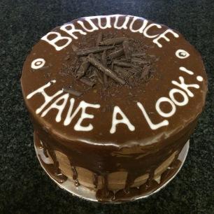 Bar One Birthday Cake