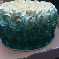 Buttercream Roses Cake with Ombre Airbrush